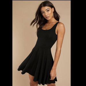 Stella Tween Black Soft Skater Dress